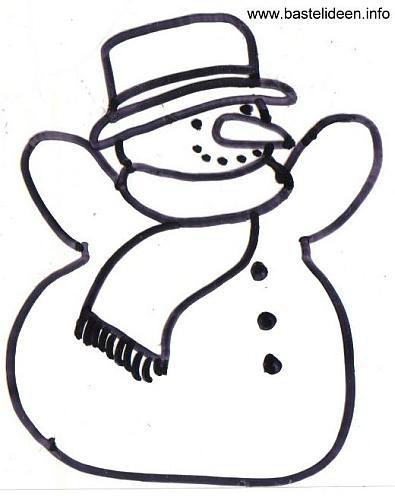 bastelvorlage  malvorlage winter  schneemann