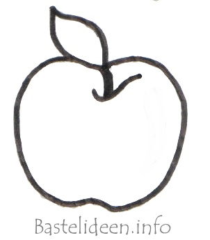 Bastelideen Herbstbasteln Apfel Malvorlage