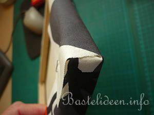 Mit Stoff Bespannter Keilrahmen Detail 8