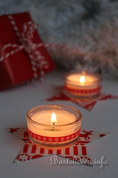 Basteln Mit Teelichter basteln und dekorieren für weihnachten einfache