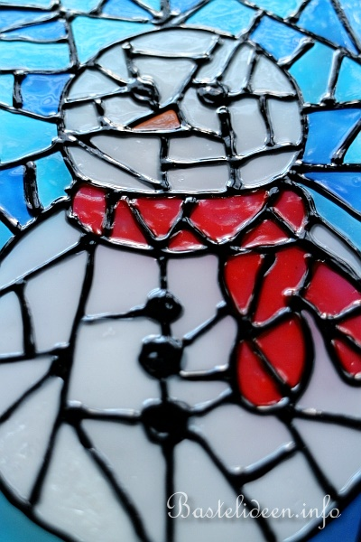 Mosaik Window Color Schneemann