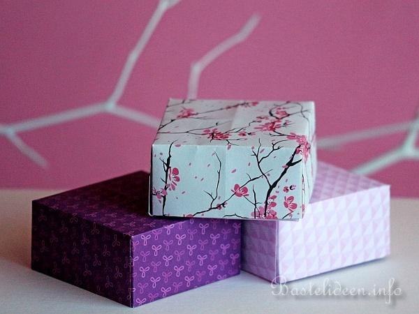 Box Basteln basteln mit papier origami schachteln basteln