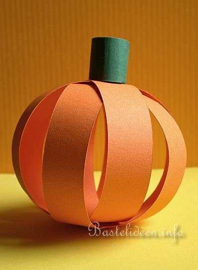 Herbstbasteln Mit Kindern Papier Kurbis