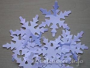 Bastelanleitung 3 D Papier Schneeflocken
