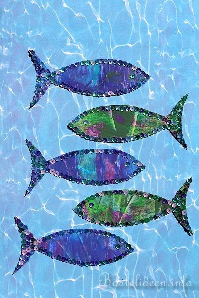 Basteln Mit Kindern Im Sommer Glitzerfische Basteln