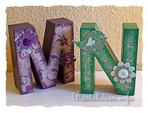 Bastelideeninfo Geschenke Basteln Pappmaché Buchstaben