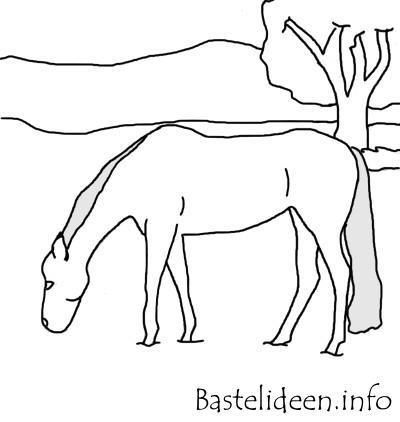 Kostenlose Malvorlage Oder Bastelvorlage Pferd Ausmalbild