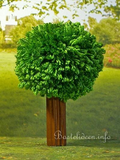 Sommerbasteln basteln mit kindern pompom apfelbaum for Bastelanleitung baum aus papier