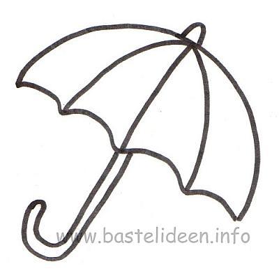 Sonnenschirm malvorlage  Bastelideen.info - Kostenlose Bastelvorlage - Regenschirm