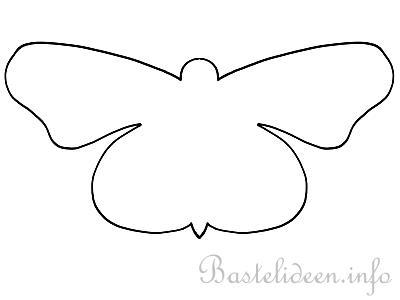 Malvorlage f r kinder schmetterling silhouette 2 - Bastelvorlage schmetterling ...