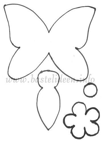 Schmetterling Vorlage Fensterbild 595 Malvorlage 2