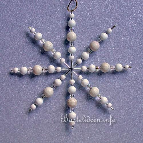 Basteln Fur Weihnachten Perlen Schneeflocke