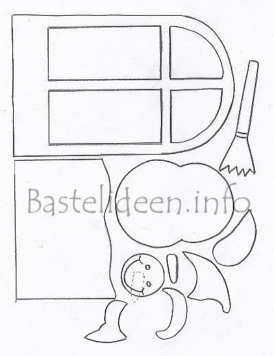 Winter Bastelvorlage Schneemann Im Fenster Fensterbild