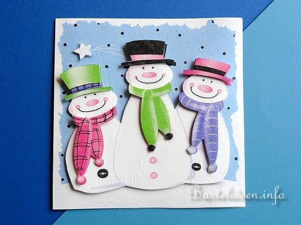 weihnachtskarten oder winterkarten basteln schneem nner. Black Bedroom Furniture Sets. Home Design Ideas