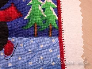 weihnachtskarten basteln weihnachtskarten mit stoffmotiven. Black Bedroom Furniture Sets. Home Design Ideas