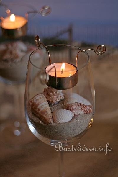 Sommerbasteln maritime teelichtgl ser - Glaser dekorieren mit sand ...