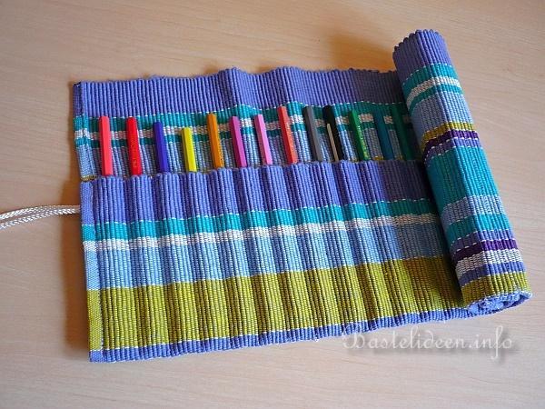 Berühmt Textiles Nähen und Basteln - Bleistift-Rolle aus einem Platzset CF94