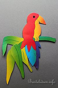 tiere basteln papagei fensterbild bastelvorlagen. Black Bedroom Furniture Sets. Home Design Ideas