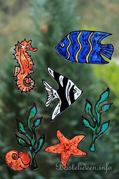 Kostenlose Malvorlage - Windowcolor - Engelfisch