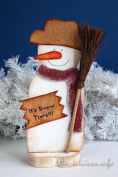 Basteln Für Weihnachten Holz Schneemann Its Snow Time
