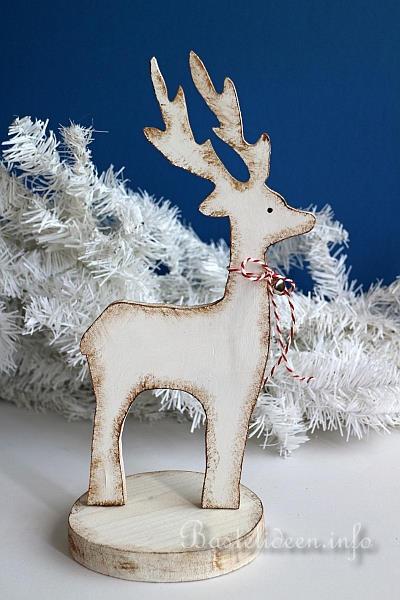 Bastelidee Für Weihnachten Winterliche Holzdekoration