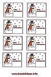 Kostenlose Bastelvorlagen Weihnachten Winter 3