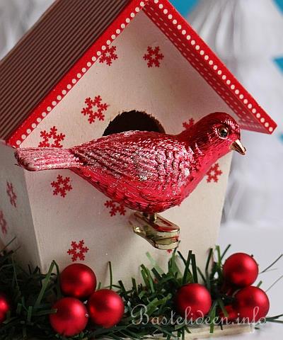 Weihnachtsbasteln weihnachtliches vogelhaus basteln - Vogelhaus basteln ...