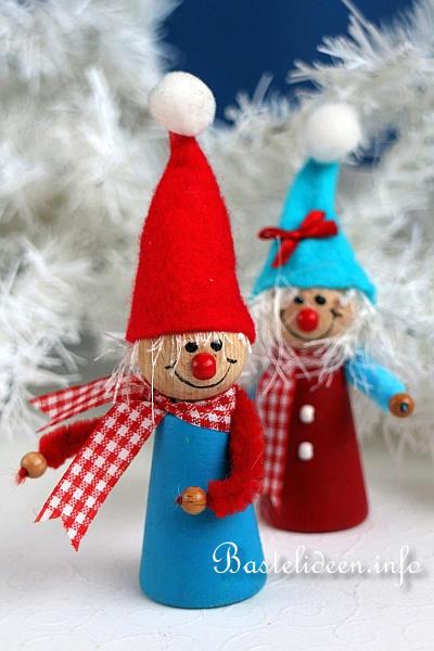 Weihnachtsbasteln - Niedliche Weihnachtswichtel