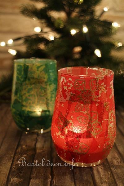 bastelideen zu weihnachten stimmungsvolle teelichtgl ser. Black Bedroom Furniture Sets. Home Design Ideas
