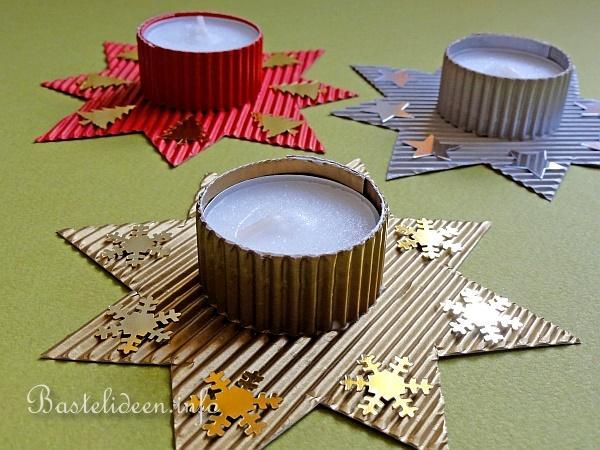 basteln zu weihnachten mit kindern stern teelichthalter. Black Bedroom Furniture Sets. Home Design Ideas