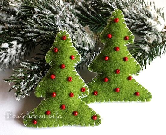 Basteln zu weihnachten weihnachtsbasteleien weihnachtsbaum aus filz - Weihnachtsbaum deko basteln ...