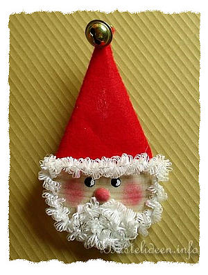 Kostenlose weihnachtsbasteleien basteln nikolaus magnet - Nikolaus bastelideen ...