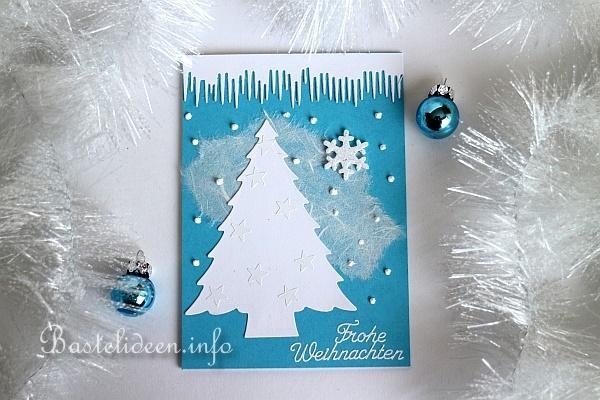 Karte Basteln Fuer Weihnachten Tannenbaum Im Winter