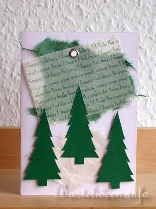 Weihnachtskarten Basteln Tannenbaum.Basteln Sie Karten Fuer Weihnachten Weihnachtsbaeume