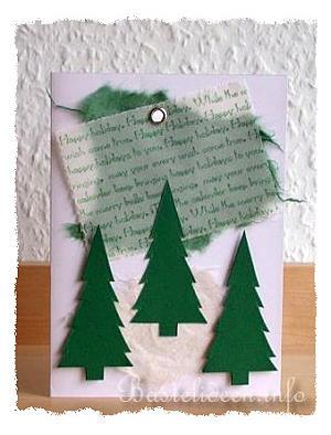 basteln sie karten fuer weihnachten weihnachtsbaeume. Black Bedroom Furniture Sets. Home Design Ideas