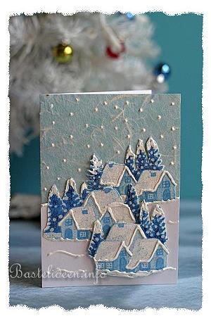 Edle Weihnachtskarten Basteln.Karte Basteln Fuer Weihnachten White Christmas