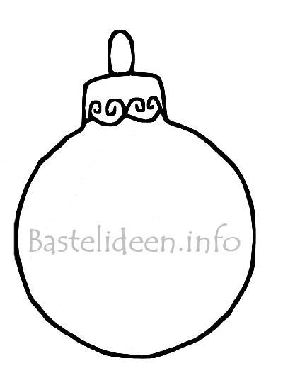 Weihanchtsbasteln Christbaumkugel Malvorlage Oder Ausmalbild