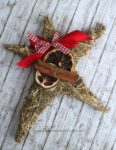 Basteln zu weihnachten heu stern dekoration - Dekoration basteln ...