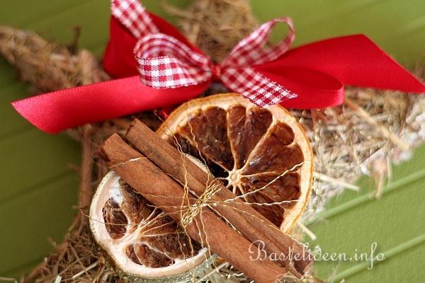 Basteln zu weihnachten heu stern dekoration - Weihnachtsdekoration basteln ...