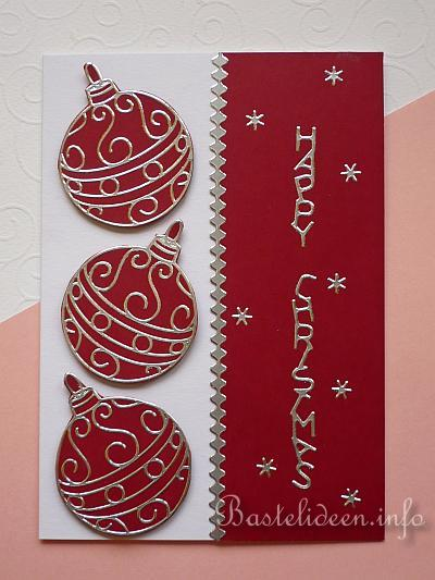 weihnachtskarten basteln karte mit weihnachtlichen. Black Bedroom Furniture Sets. Home Design Ideas