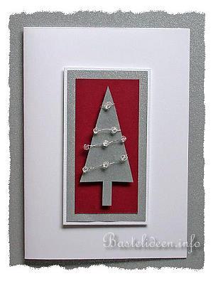 weihnachten karten basteln weihnachtsbaum mit perlenschmuck. Black Bedroom Furniture Sets. Home Design Ideas