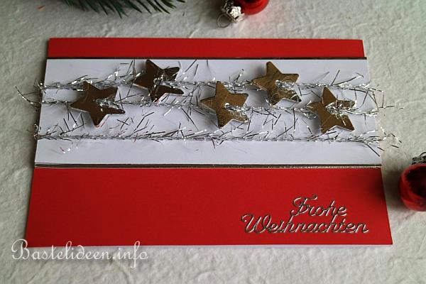 karten basteln zu weihnachten glitzersterne weihnachtskarte. Black Bedroom Furniture Sets. Home Design Ideas
