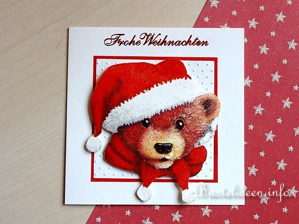 weihnachtskarten basteln weihnachtsb r. Black Bedroom Furniture Sets. Home Design Ideas