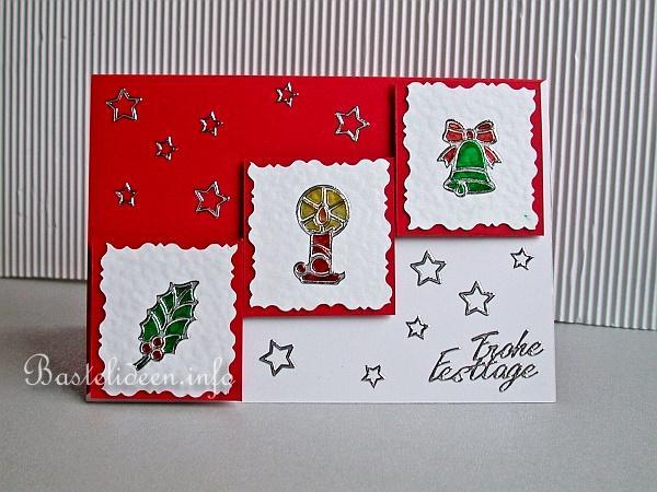Weihnachtsmotive Für Karten.Basteln Für Weihnachten Weihnachtskarte Mit Peel Off Sticker