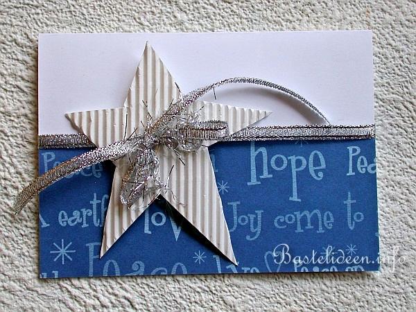 weihnachtskarten basteln weihnachtskarte mit stern. Black Bedroom Furniture Sets. Home Design Ideas
