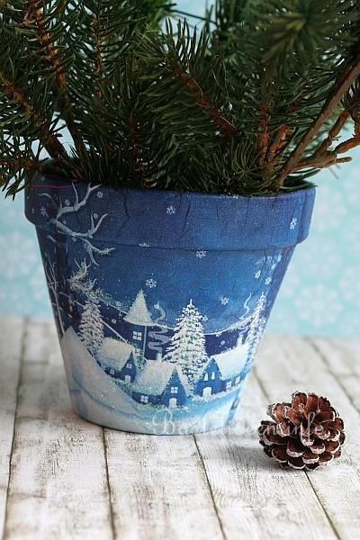 Weihnachtsbasteln und bastelideen f r den winter for Bastelideen blumentopf